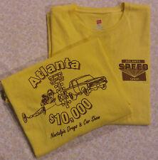 Speed Shop & Nostalgia Drag Racing T-Shirt- Golden Yellow