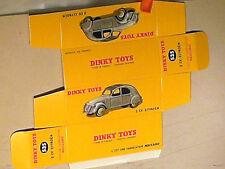 REPLIQUE BOITE CITROEN 2CV 1956  DINKY TOYS