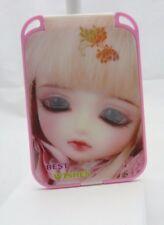 Miroir de sac à main rose  différents modèles motif fille manga 13 x 9 cm