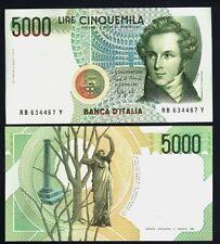 """5000 Lire Bellini  Lettera  """" B  """"  FDS  ass. !!!"""