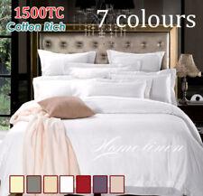 1500TC Cotton Rich Quilt/Doona/Duvet Cover Set 7 colors King/Queen/Double Size