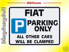 Fiat Parking Sign Novelty Gift Uno Brava Bravo 126 127