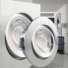 LED Einbaustrahler Alu flach Einbauleuchte geringe Einbautiefe ab 27mm Set 230V