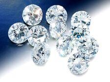 10x 0.025ct 0.25TCW Round Excellent Cut Brilliant Diamond E Color VS1 Clarity