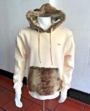 Men's Fashion Ivory Fur Hoodie