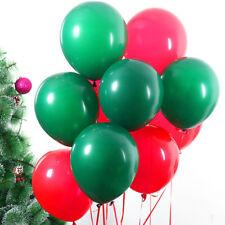 "5"" inch Red & Green Christmas Plain Balloon xmas Foil Balloons Santa Claus XMAS"