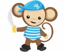 Blauer Piraten Affe Aufkleber Sticker Autoaufkleber Scheibenaufkleber