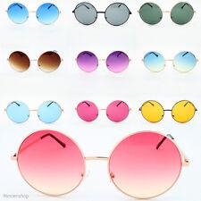 Lunettes hippie mode rétro grande ronde lennon femmes lunettes de soleil