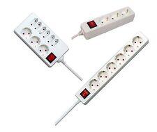 3, 4, 5, 6, 9 Fach Steckdose Weiß mit Kinderschutz und Schalter Steckdosenleiste