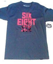 Men's Six Eight Six 686 Ski Snowboard S/S T Tee Shirt Blue grey Size Small S