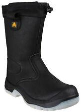 Amblers FS209 Resistente Al Agua Seguridad Rigger para hombre Negro Puntera De Acero Bota UK4-13