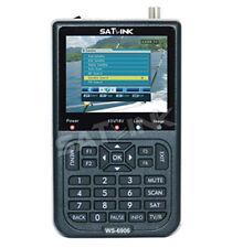 "SATLINK WS-6906 DVB-S FTA Satellite Finder 3.5"" LCD Satellite TV Receiver QPSK"