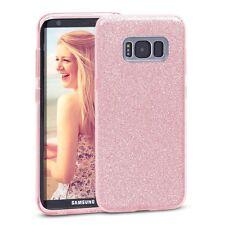 Pour samsung Galaxy S8/S8 Plus- Coque brillante Rose Paillette Silicone Élégant