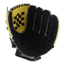 Youth/Kids/Adult Baseball Teeball Softball Left hand Glove Mitt Black Yellow