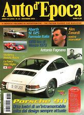 AUTO D'EPOCA 12 2003 PORSCHE 911 STORY, ABARTH SE 025