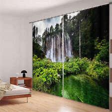 Original Green Hills 3D Curtain Blockout Photo Printing Curtains Drape Fabric