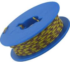 10 Meter Litze 1x0,14 mm² Grundfarbe gelb, Ringdruck 5 Farben deutsche Qualität