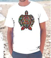 T-SHIRT MAGLIETTA TARTARUGA TURTLE Uomo Donna unisex tribal tribale mexican