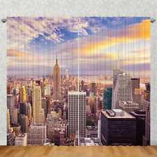 Foto Vorhang Gardine | verdeckte Schlaufe & Kräuselband | New York Skyline