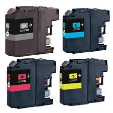 4 Non-OEM For Brother LC123 - LC123BK LC123C LC123M LC123Y Ink Cartridges