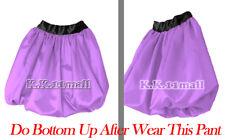 Satin Short Pant Bubble MediumPurple Pant Casual Formal BeachWear Short Pant S13