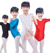 Kids Long Sleeve Lycra Ballet Dance Gymnastics Modern Jazz Competition Leotard