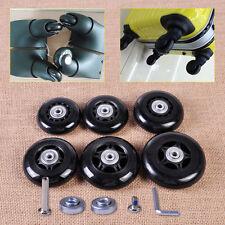 6mm Black Rubber Luggage Inline Skate Wheel Suitcase Replacement Wheels Repair