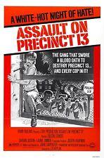 ASSAULT ON PRECINCT 13 Movie Poster 1976 Action John Carpenter