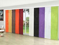 Flächenvorhang, Schiebegardine blickdicht Micro Satin, matt, mit Zubehör -85600-