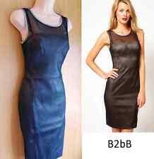 New Karen Millen black mocha double layer shift evening dress UK 10 12 £160