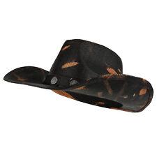 Paper Straw Toyo Western Black Cowboy Cowgirl Hat - FREE SHIPPING b82713dea49a