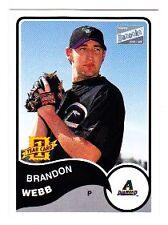 BRANDON WEBB 2003 TOPPS BAZOOKA #163 RC CARD