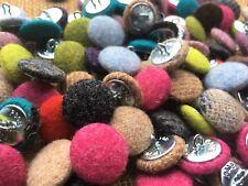 10 x 100% MOON laine 2 cm boutons. Artisanat Upholstery. Choisissez parmi 100's de tissus
