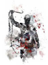 Art imprimé pinhead inspiré illustration, hellraiser, film, wall art, horreur
