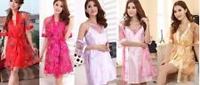 Sheer Kimono Lingerie Bath Robes Nightgown Nightdress Sleepwear Pajama Babydoll