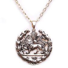 Gold Pt Shir Khorshid Lion Sun Pahlavi Kingdom Necklace Iranian Persian Iran Art