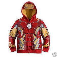 SUPER HEROS Felpa Con Cappuccio Iron Man Giacca con Zip per Ragazzi Bambini Avengers Capitan America