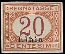 LIBIA 1915 - 20 c. SEGNATASSE n. 3, PROVA, CERTIFICATO