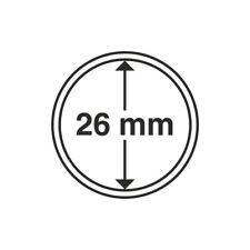 Capsules plastique rondes pour pièces de 2 euro diametre 26 mm