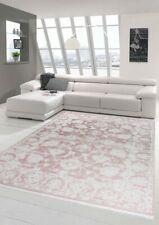 Tappeto design tappeto moderno da salotto vintage con frange in rosa