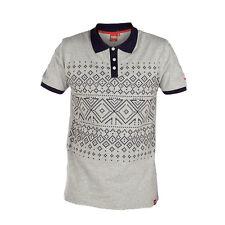 D555 Mens Designer King Size Aztec Print Polo T-Shirt, BNWT. 1XL 2XL 3XL 4XL