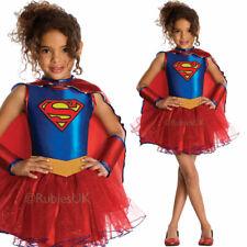 Girls Supergirl Tutu Sparkly Superhero Genuine Official Fancy Dress Rubies