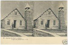 Alaska, Juneau City, Church, old 3D stereo postcard