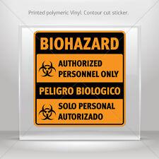 Sticker Decals Biohazard Authorized Personnel Only / Pel st5 X4388