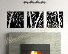 Adesivo Murale In Vinile Canne Di Bambù Effetto Quadro x3 Decorazione Parete