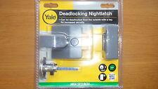 Yale P85-DMG-40 Deadlocking nightlatch with S/Chrome or P/Brass cylinder