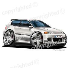 Honda Civic Coupe - Vinyl Wall Art Sticker - White