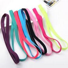 1PC Women Men Sport Headband Anti-slip Rubber Sweatband Elastic Hair Bands Decor