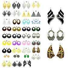 Crystal Rhinestone Vintage Large Chain Stud Evening Dress Ear Rings Earings Gift