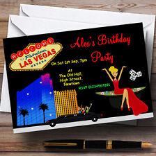 Casino Las Vegas Theme Personalised Birthday Party Invitations - Th17